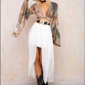 NWT Somedays Lovin Down the Line Midi Skirt XS